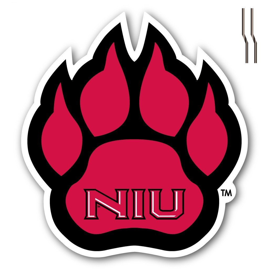 Northern Illinois University Paw Shaped Plastic Yard Sign with 2 EZ stakes