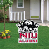 "Northern Illinois University Alumni Shaped Plastic Yard Sign ""with 2"