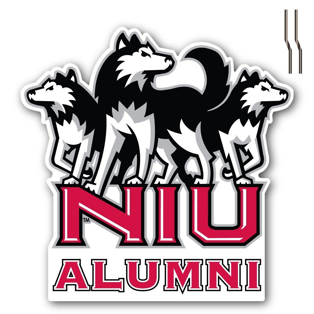 Northern Illinois University Alumni Shaped Plastic Yard Sign - FREE SHIPPING