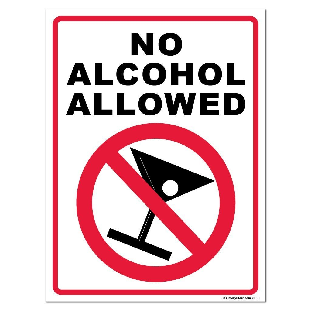 No Alcohol Allowed Sign or Sticker - #5