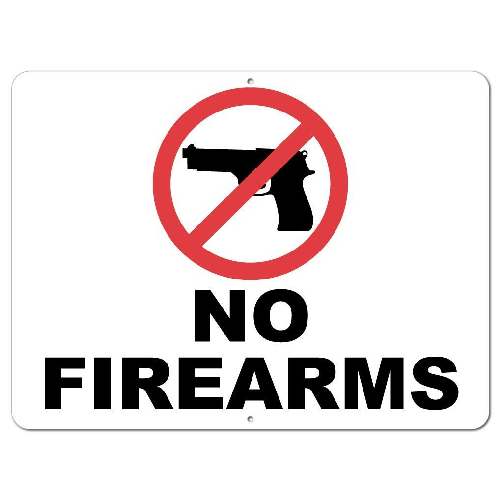 No Firearms Sign or Sticker - #4
