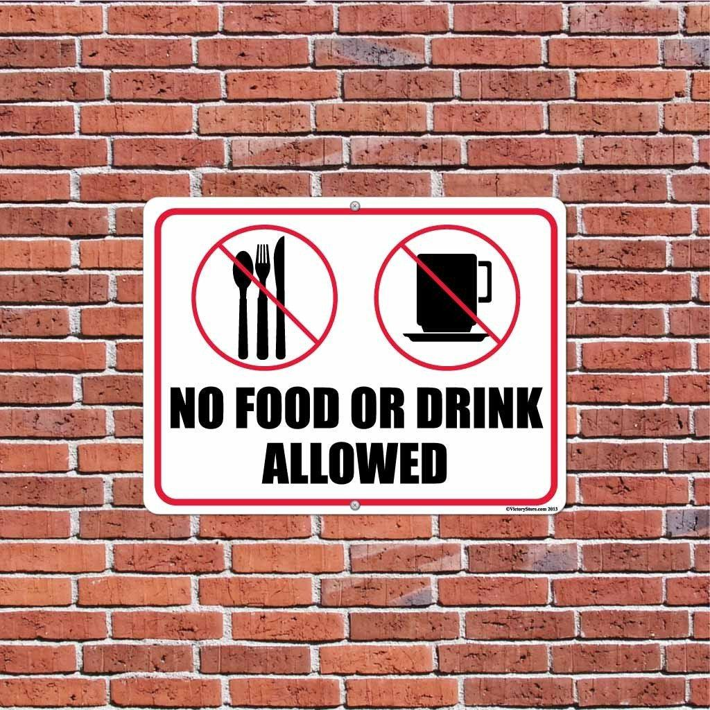 No Food or Drink Allowed Sign or Sticker - #6