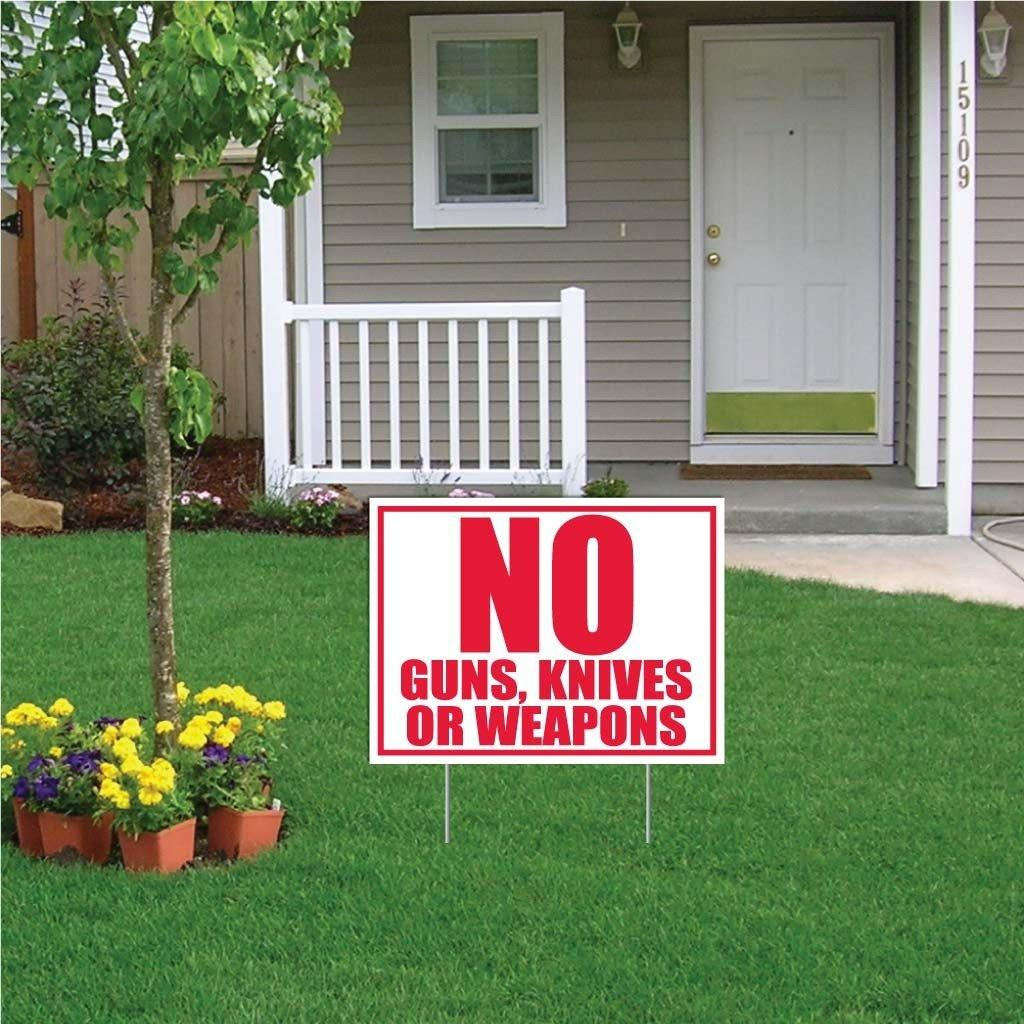 No Guns, Knives or Weapons Sign or Sticker - #1