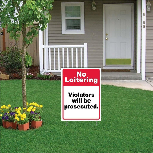 No Loitering Violators will be Prosecuted Sign or Sticker - #6