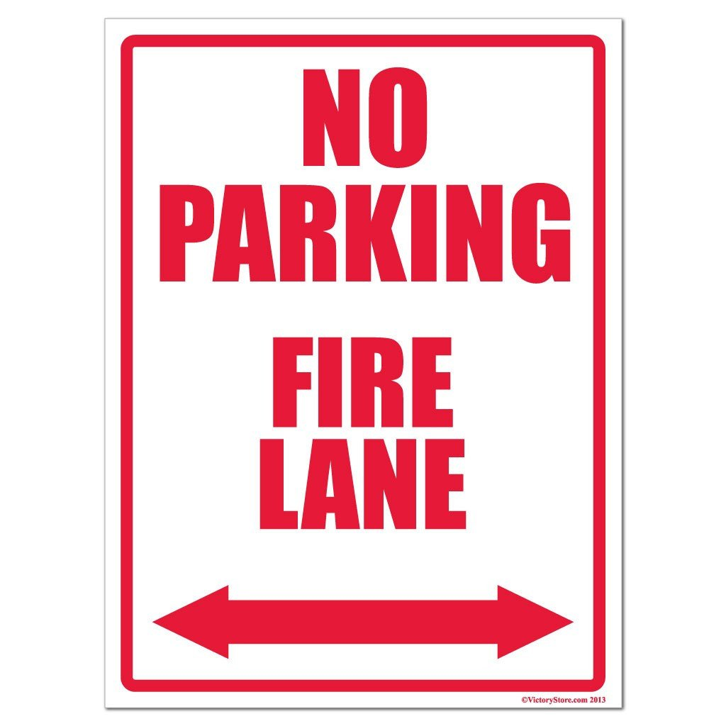 No Parking Fire Lane Sign or Sticker - #23