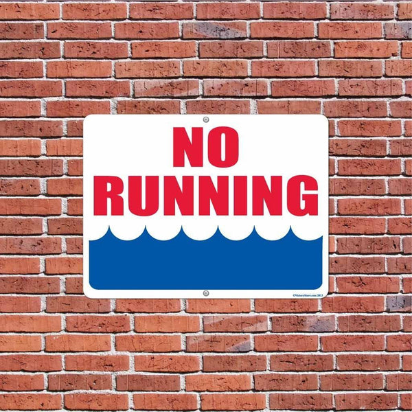 No Running Pool Sign or Sticker - #7