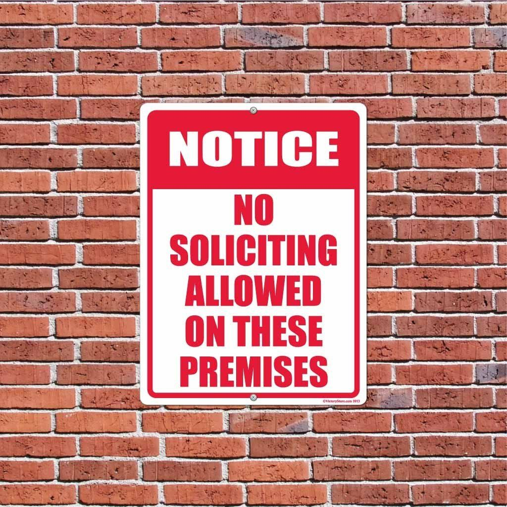 No Soliciting Allowed on These Premises Sign or Sticker - #2