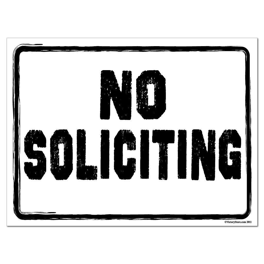No Soliciting Sign or Sticker - #5