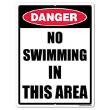 No Swimming in this Area Sign or Sticker - #5