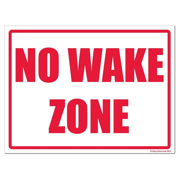 No Wake Zone Horizontal Sign or Sticker - #7