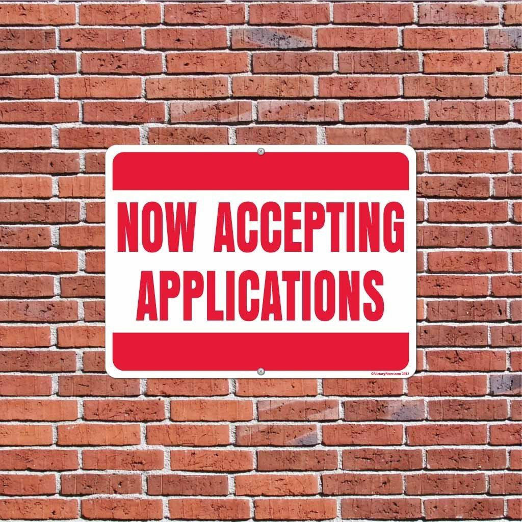Now Accepting Applications Sign or Sticker - #4
