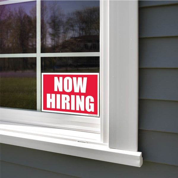 Now Hiring Sign or Sticker - #1