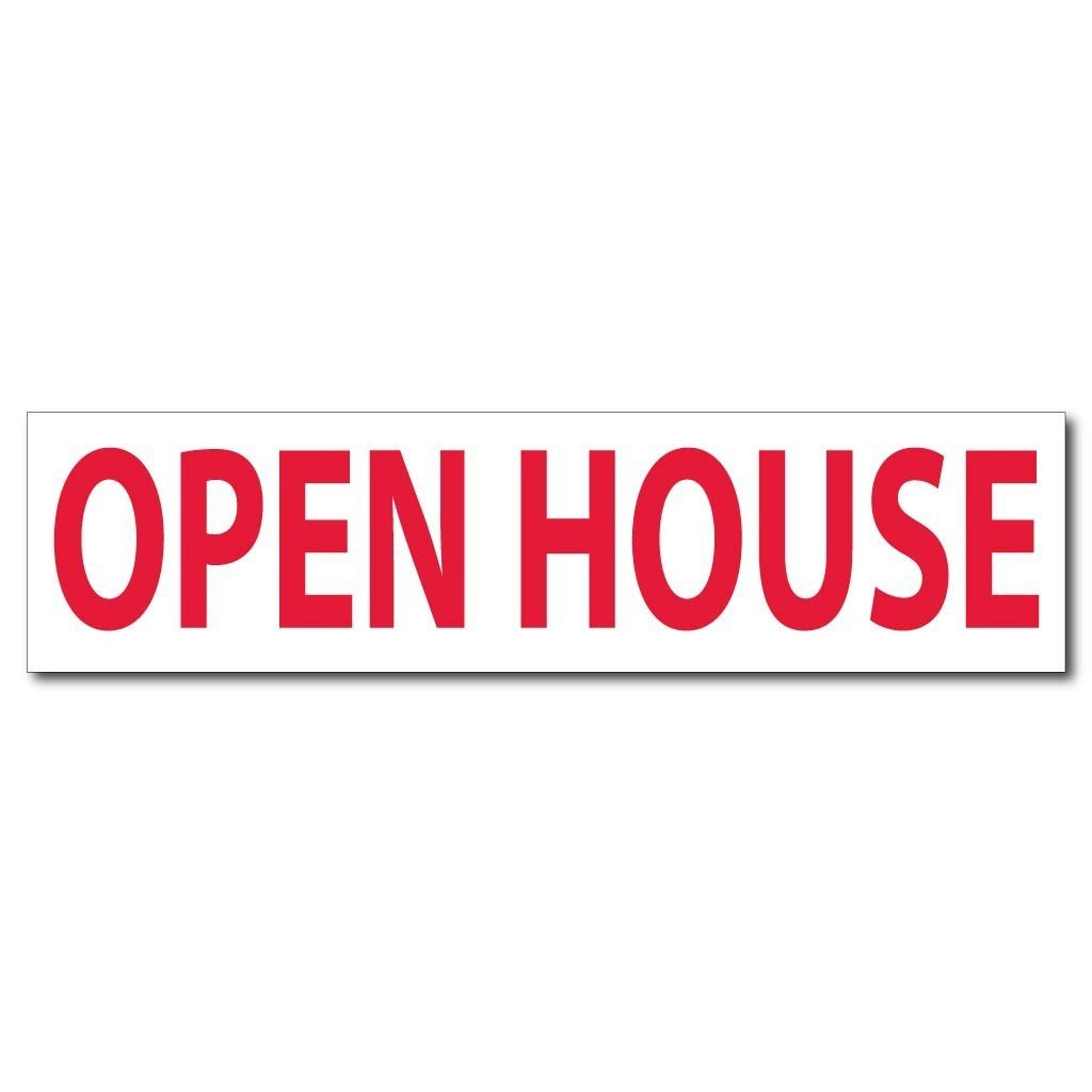 A 2D template for a open house sign topper
