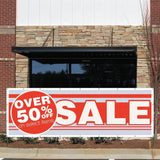 Over 50% Off Select Items! Sale Vinyl Banner with Grommets