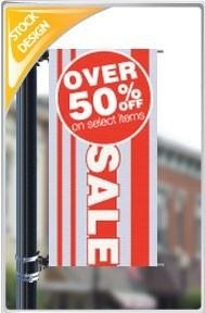 "18""x36"" Over 50% Off Select Items Pole Banner FREE SHIPPING"
