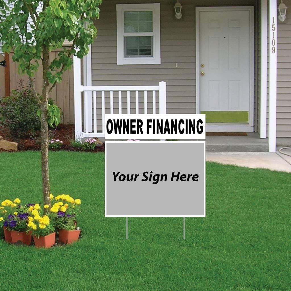 Owner Financing Real Estate Yard Sign Rider Set - FREE SHIPPING