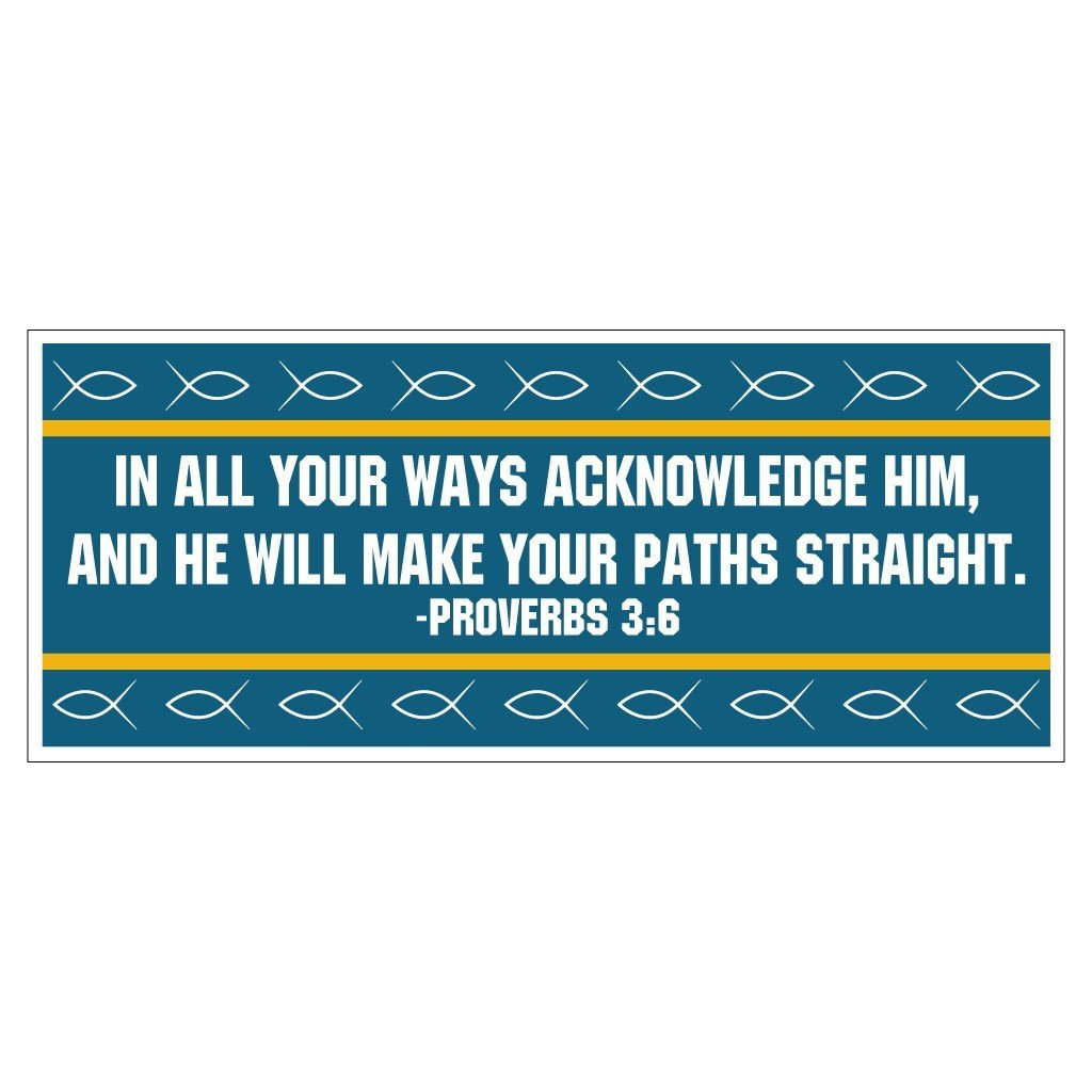 Proverbs 3:6 Bumper Magnet Pair 3.75 x 9 - FREE SHIPPING