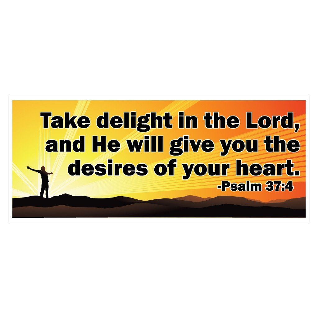 Psalms 37:4 Bumper Magnet Pair 3.75 x 9 - FREE SHIPPING