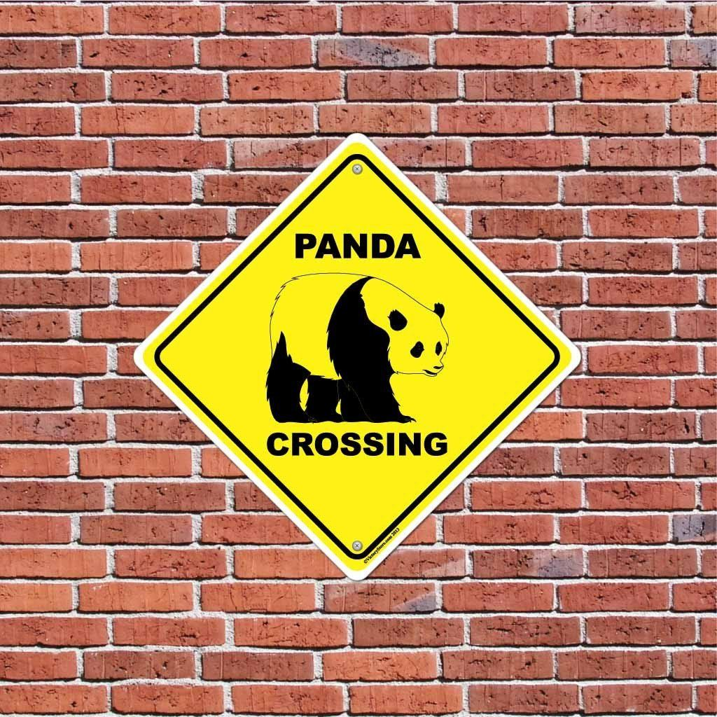 Panda Crossing Sign or Sticker