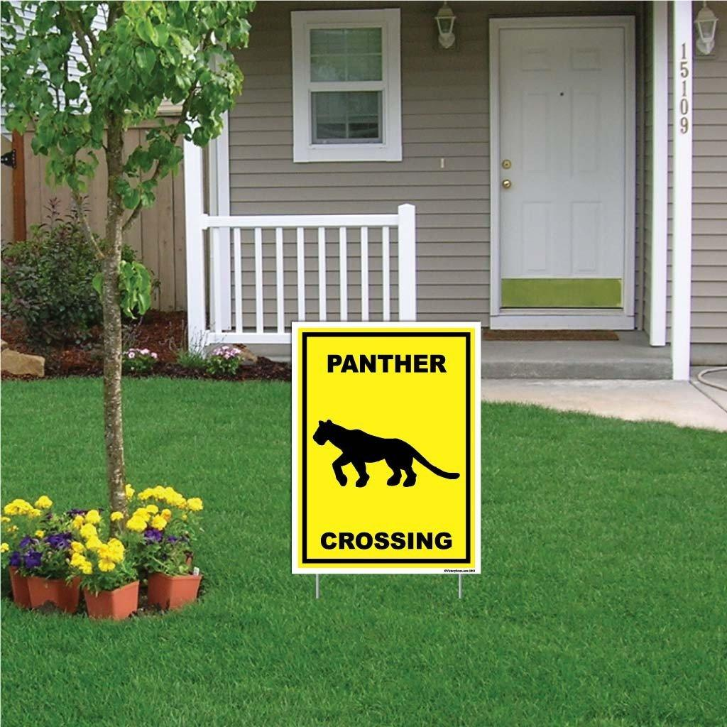Panther Crossing Sign or Sticker