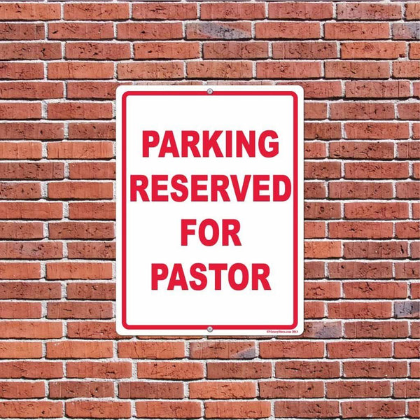 Parking Reserved for Pastor Sign or Sticker - #10