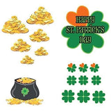 St. Patrick's Day - Yard Decoration - Shamrocks and Gold (set of 17 with 25 short stakes