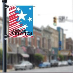 "Patriotic 36""x48"" Pole Banner FREE SHIPPING"