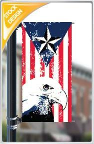 "18""x36"" Patriotic Eagle Pole Banner FREE SHIPPING"