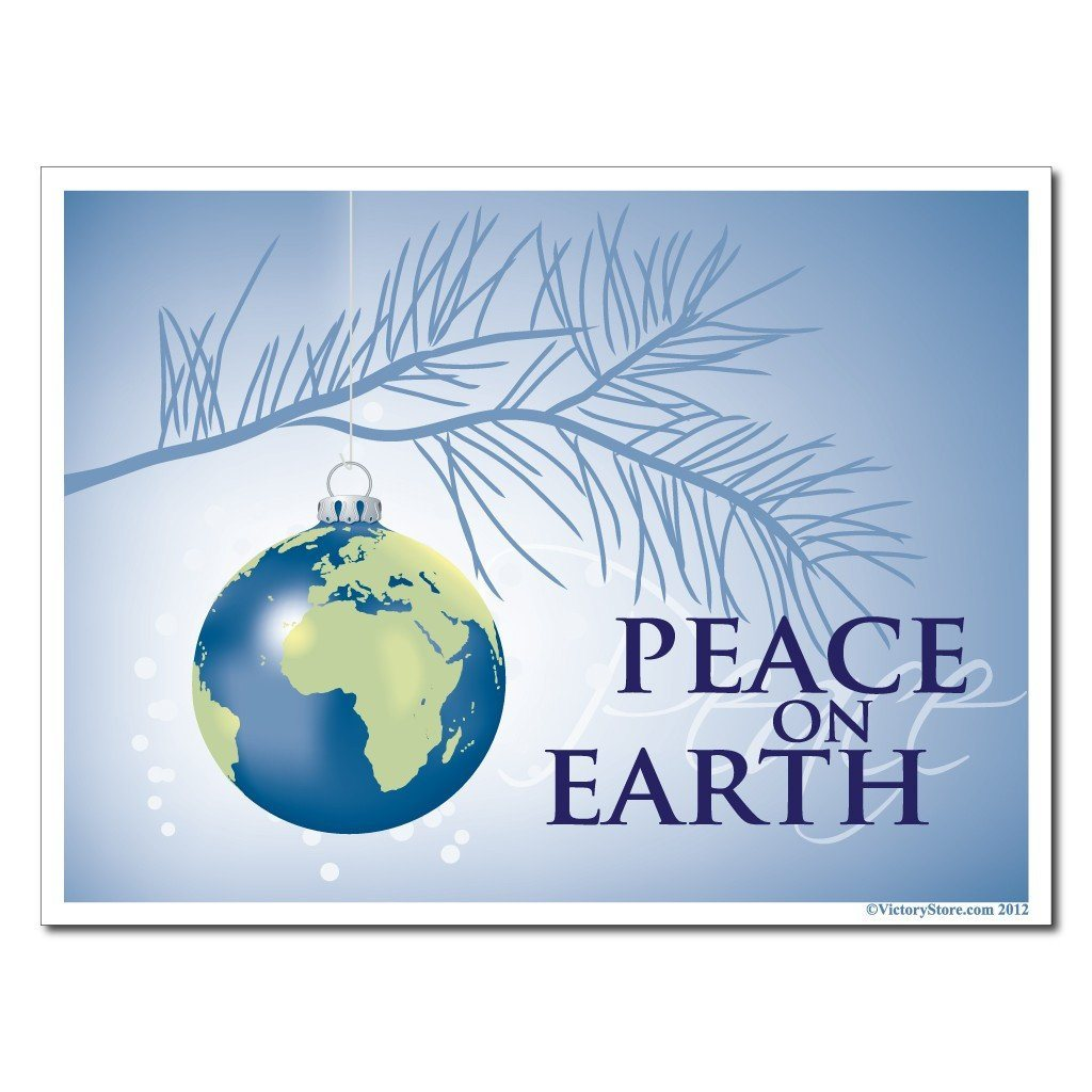 "Peace On Earth Christmas Lawn Display - 18""x24"" Yard Sign Decoration - FREE SHIPPING"