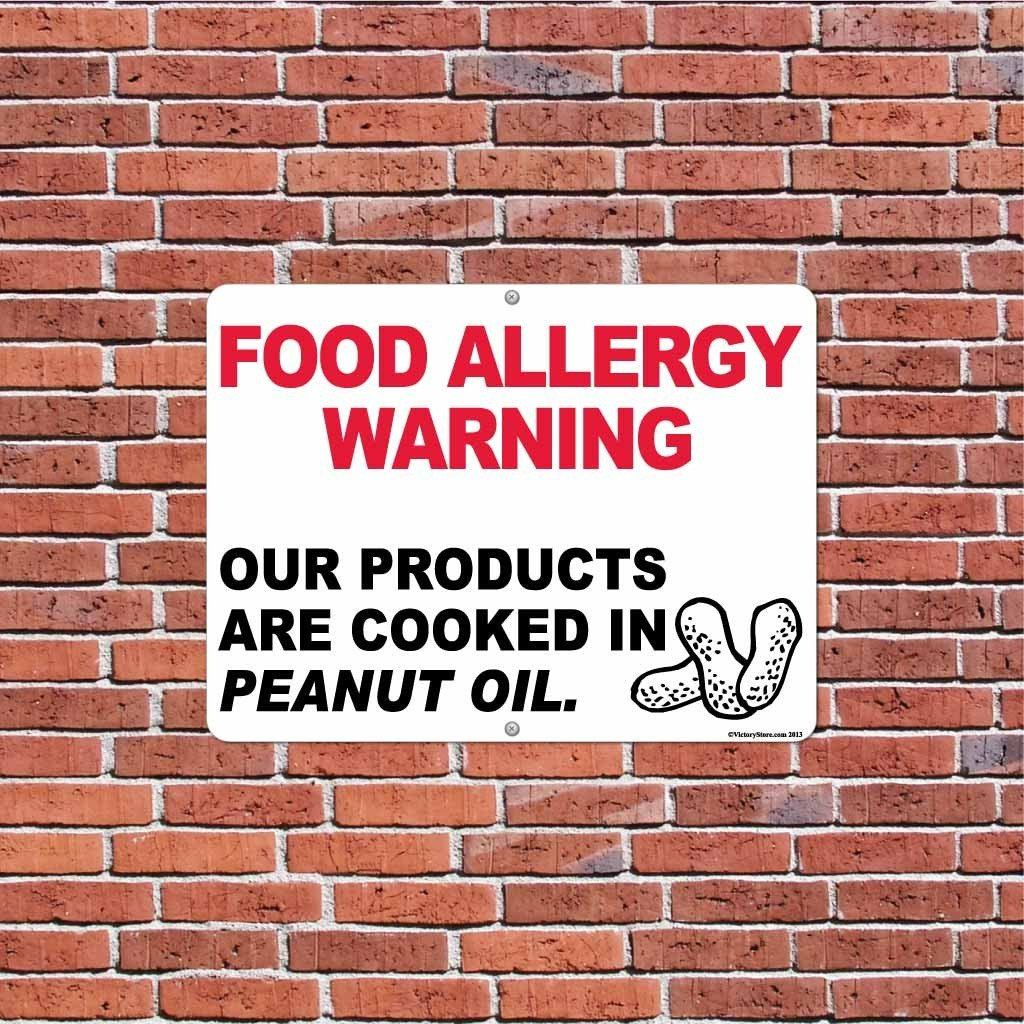 Peanut Oil Food Allergy Warning Sign - #1