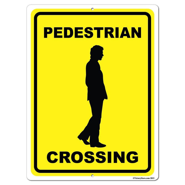 Pedestrian Crossing Sign or Sticker