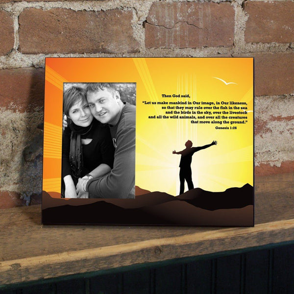 Genesis 1:26 Decorative Picture Frame - Holds 4x6 Photo