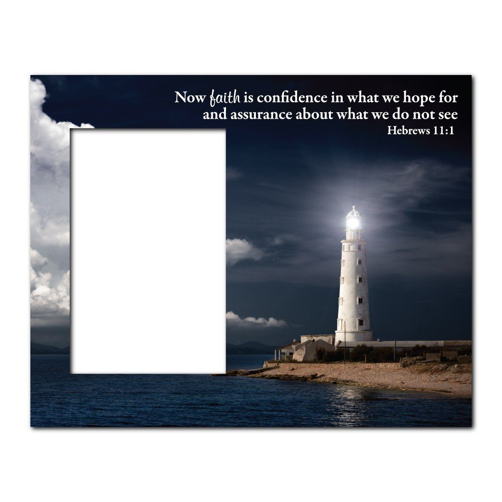 Hebrews 11:1 Decorative Picture Frame - Holds 4x6 Photo