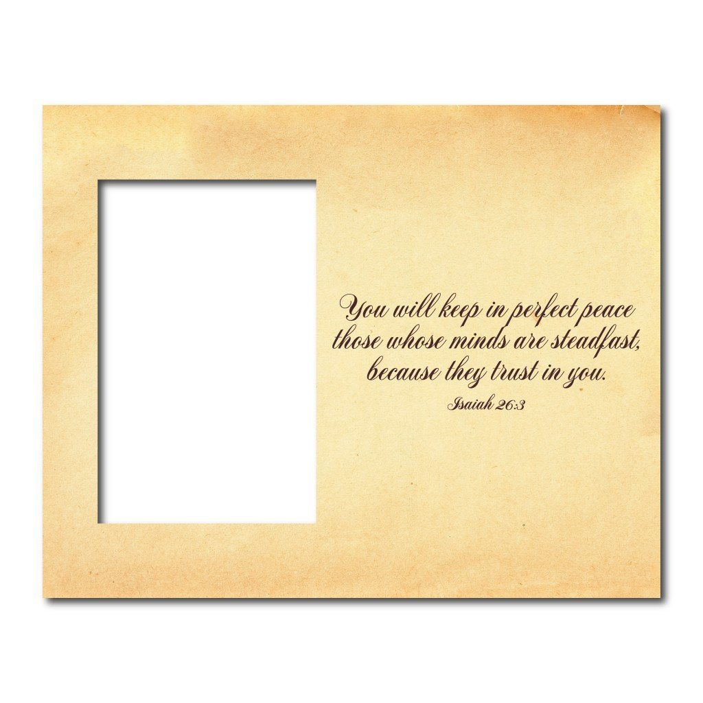 Isaiah 26:3 Decorative Picture Frame - Holds 4x6 Photo