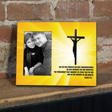 Isaiah 53:5 Decorative Picture Frame - Holds 4x6 Photo