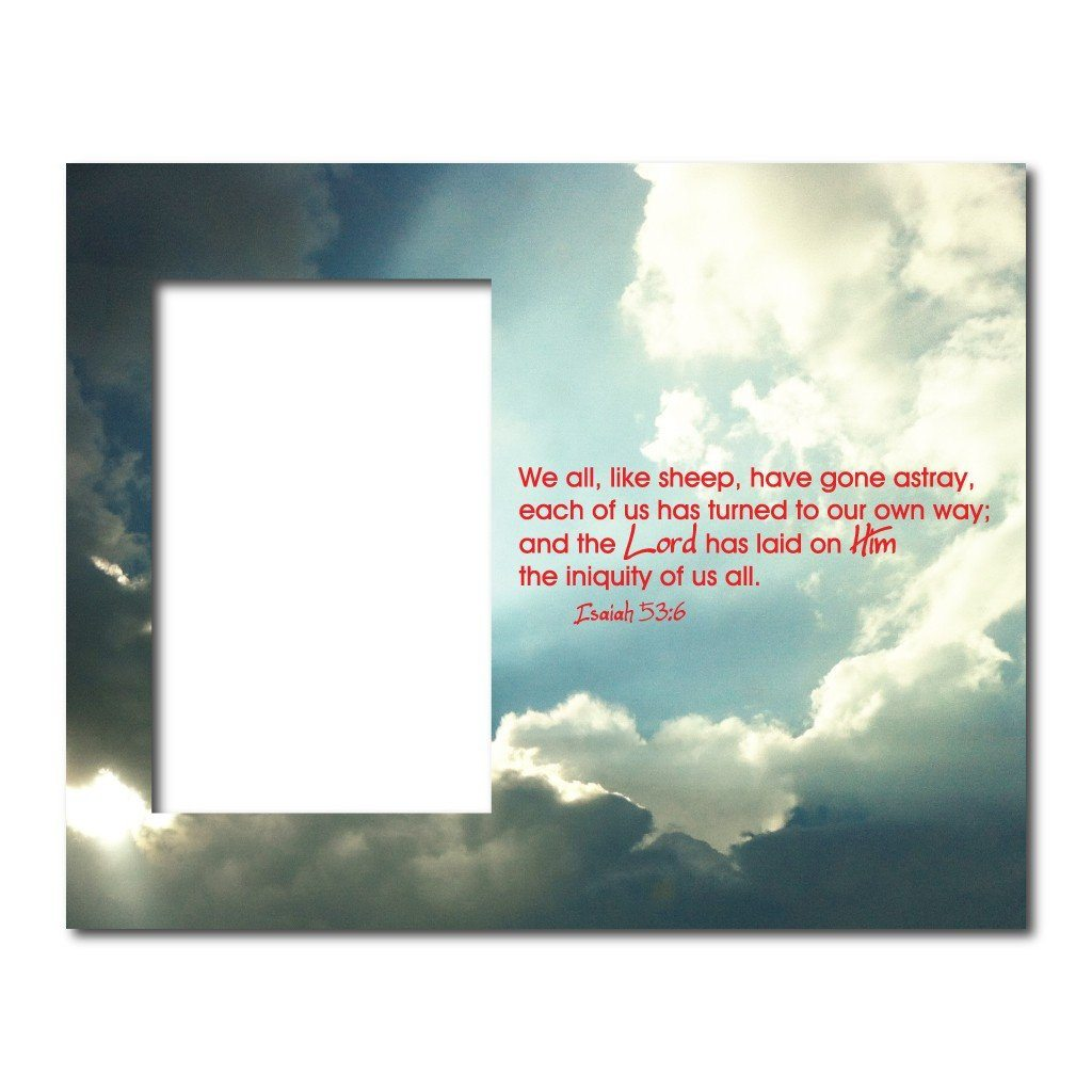Isaiah 536 Decorative Picture Frame Holds 4x6 Photo