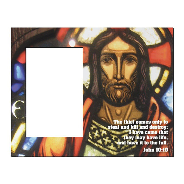 John 10:10 Decorative Picture Frame - Holds 4x6 Photo