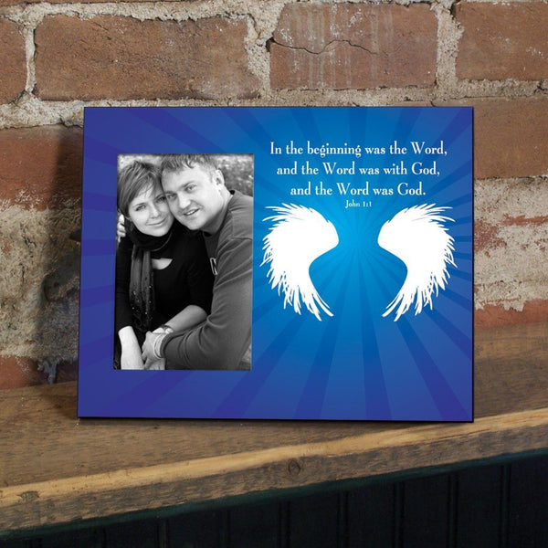 John 1:1 Decorative Picture Frame - Holds 4x6 Photo