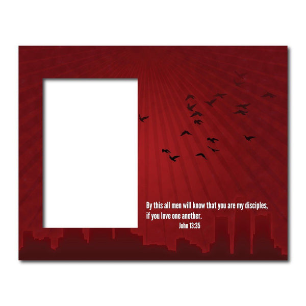 John 13:35 Decorative Picture Frame - Holds 4x6 Photo