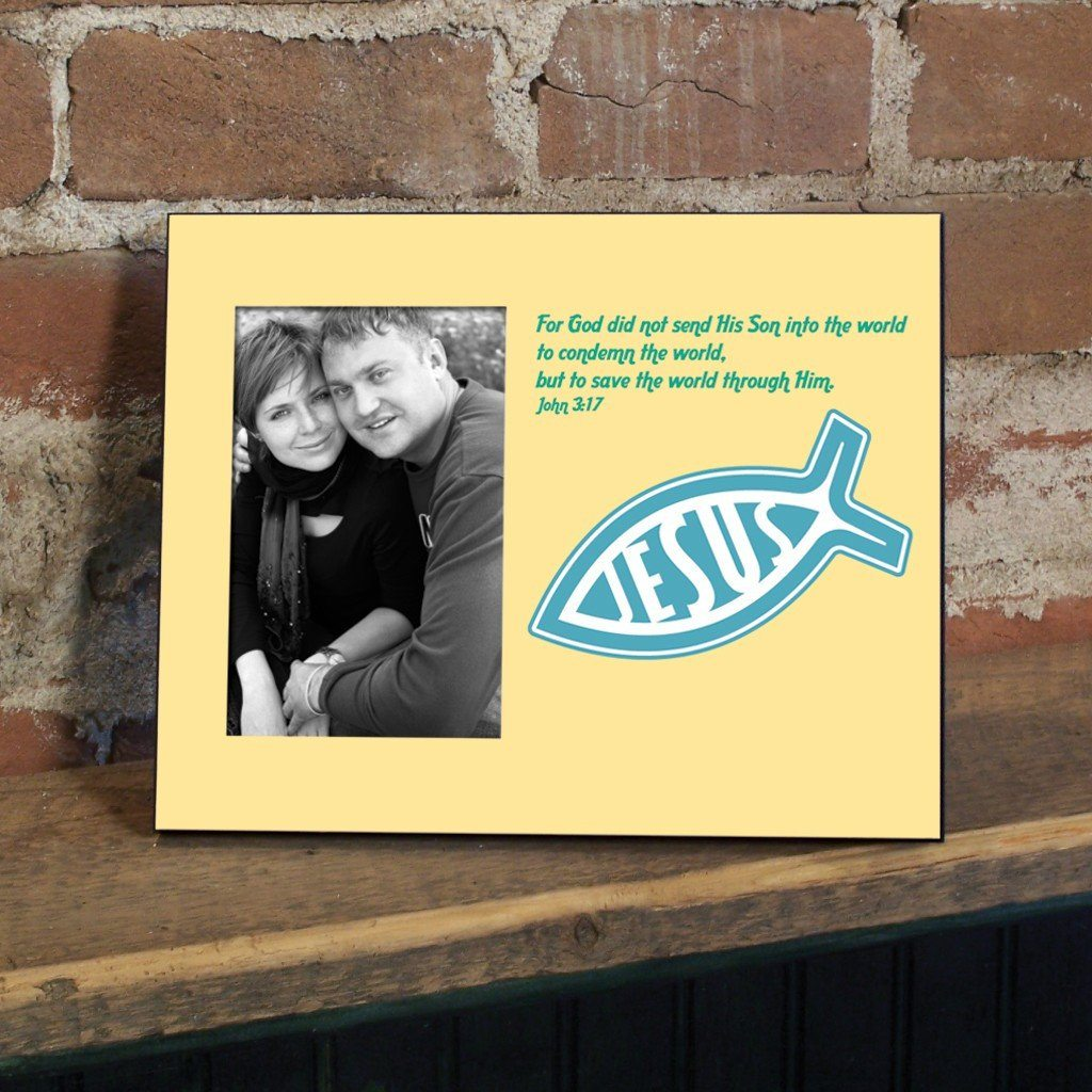 John 3:17 Decorative Picture Frame - Holds 4x6 Photo