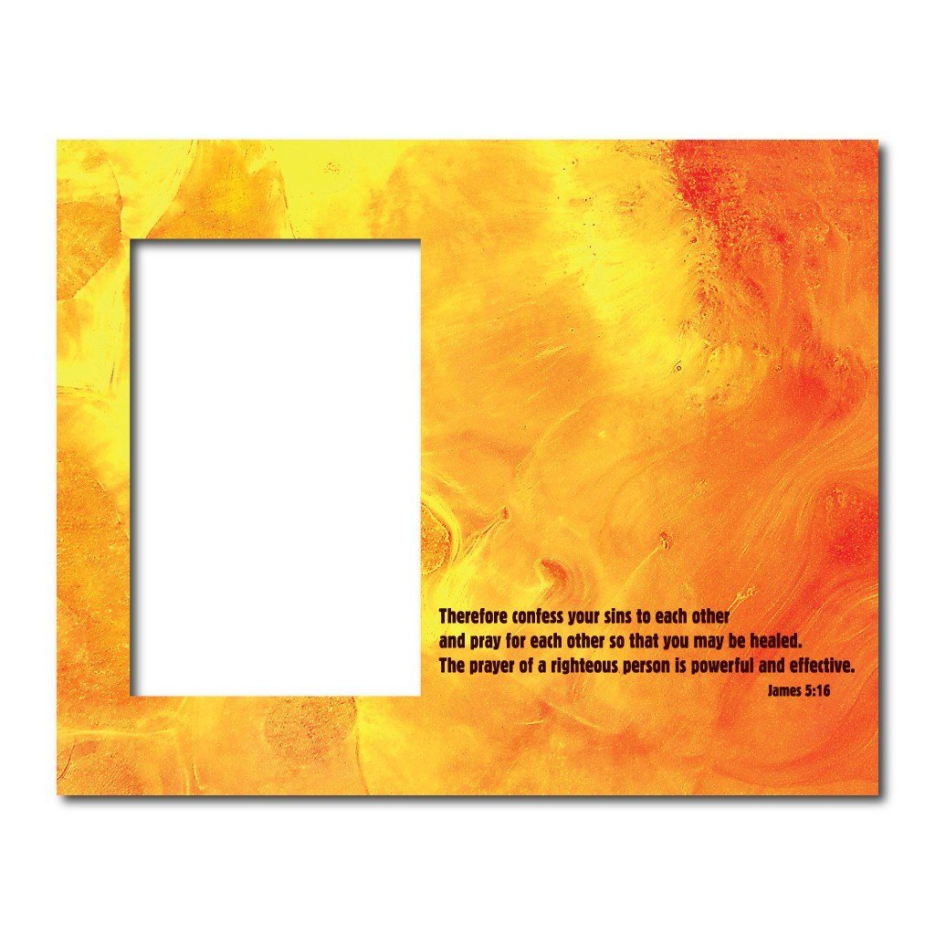 James 5:16 Decorative Picture Frame - Holds 4x6 Photo