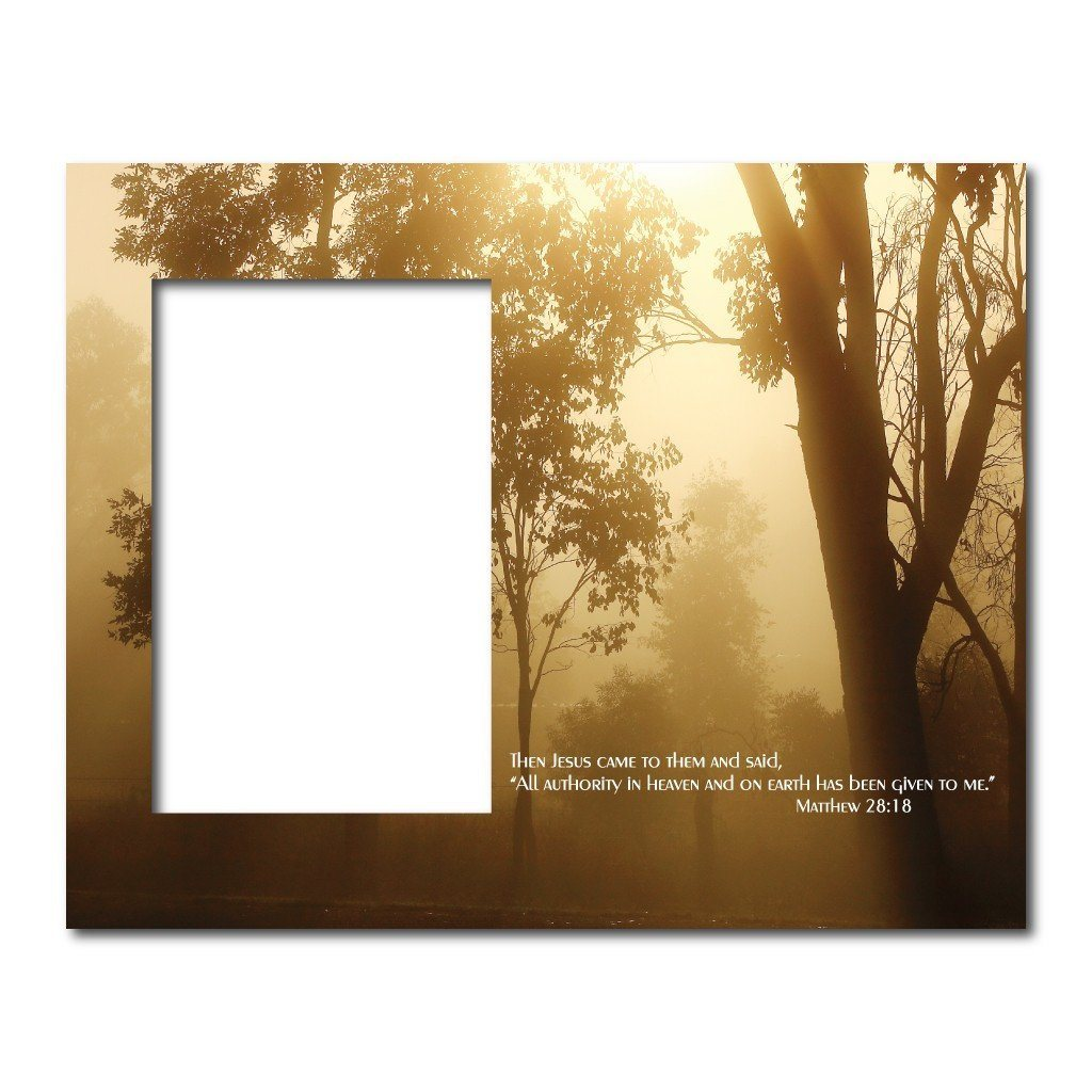 Matthew 28:18 Decorative Picture Frame - Holds 4x6 Photo