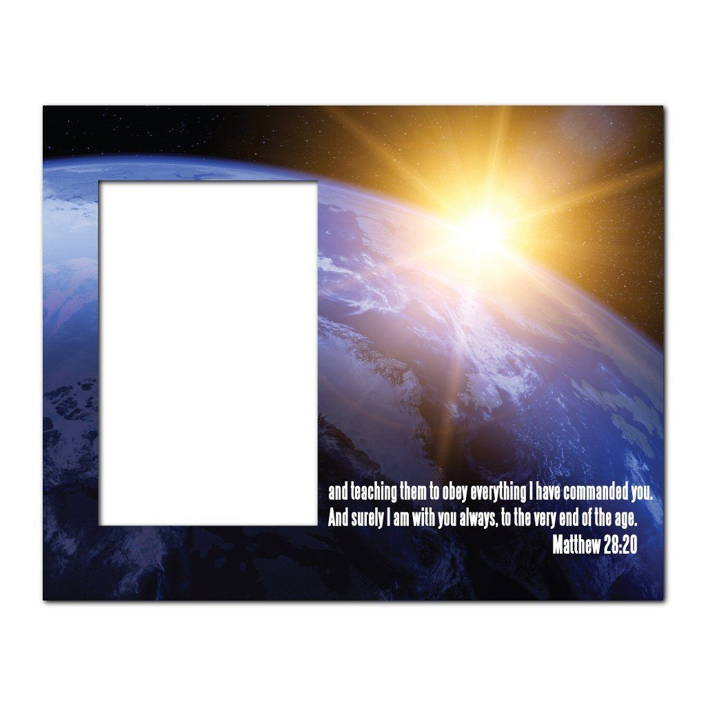 Matthew 28:20 Decorative Picture Frame - Holds 4x6 Photo