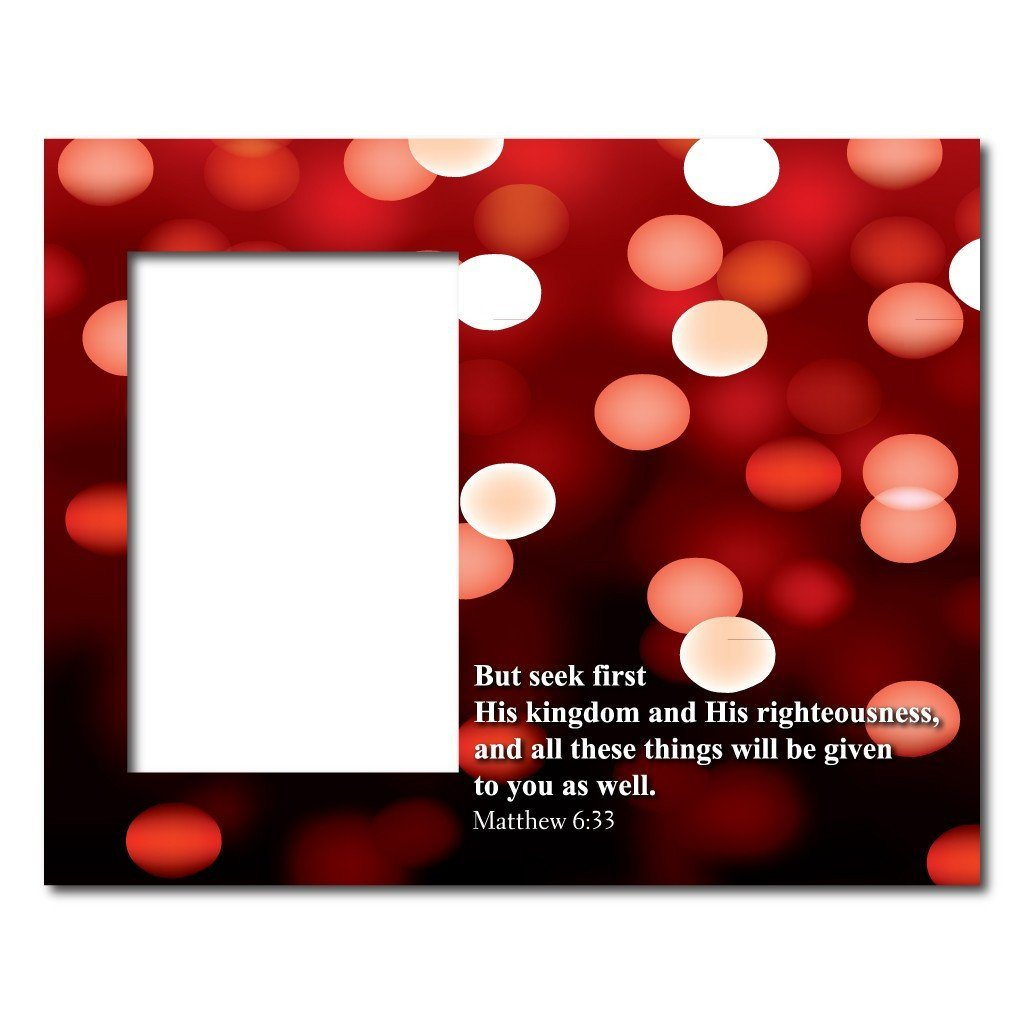 Matthew 633 Decorative Picture Frame Holds 4x6 Photo