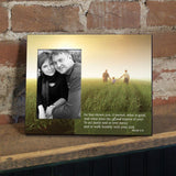 Micah 6:8 Decorative Picture Frame - Holds 4x6 Photo
