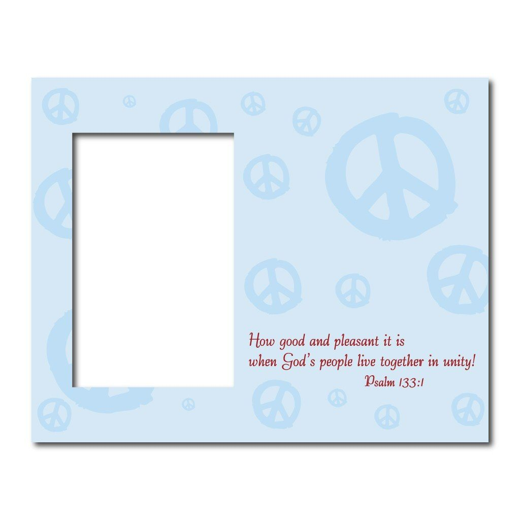 Psalm 133:1 Decorative Picture Frame - Holds 4x6 Photo