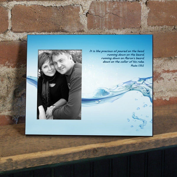Psalm 133:2 Decorative Picture Frame - Holds 4x6 Photo