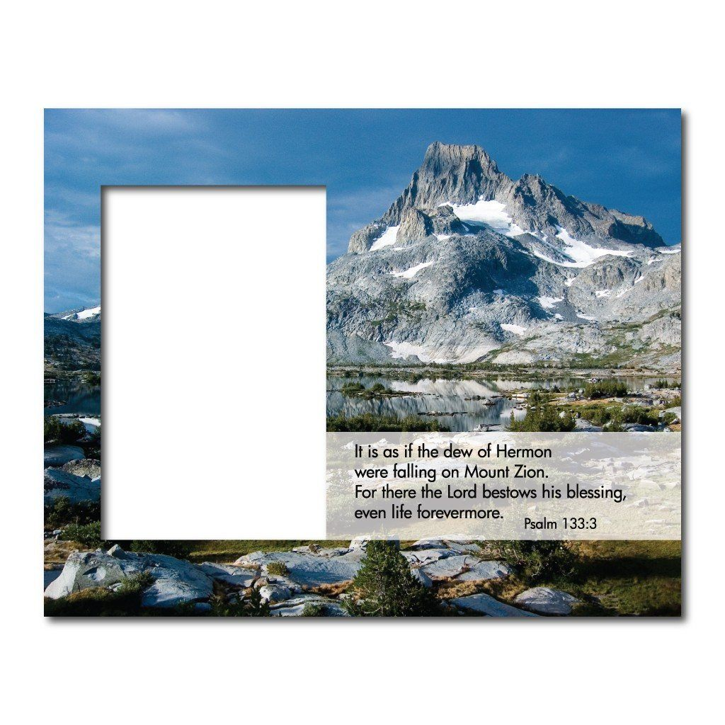 Psalm 133:3 Decorative Picture Frame - Holds 4x6 Photo
