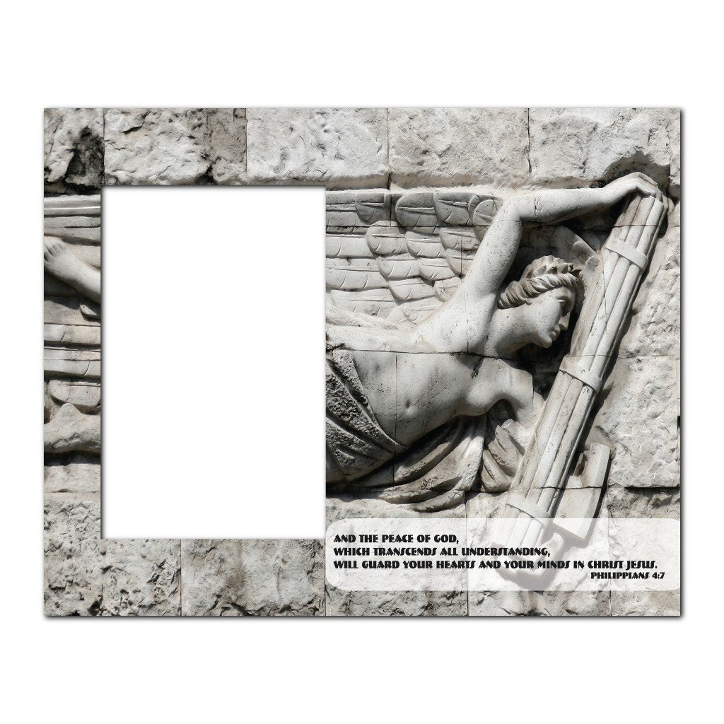 Philippians 4:7 Decorative Picture Frame - Holds 4x6 Photo