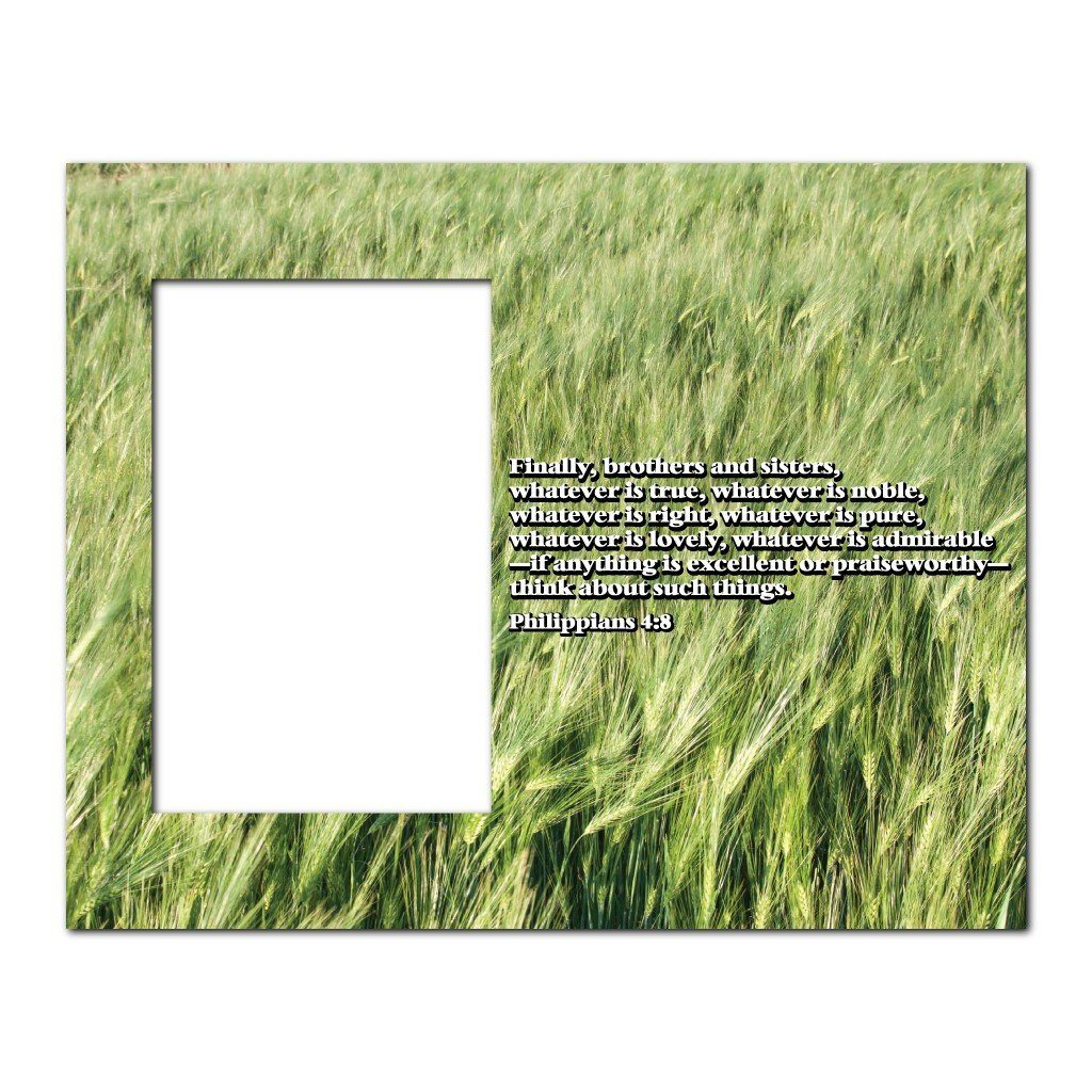 Philippians 4:8 Decorative Picture Frame - Holds 4x6 Photo